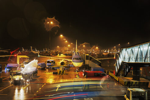 Netherlands, Amsterdam, Schiphol Airport at night - BI000188