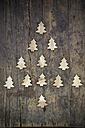 Christmas tree built of little wooden fir trees - LVF000385
