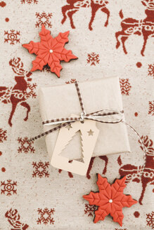 Christmas gift with gift tag and cookies - ECF000419