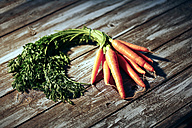 Bunch of organic carrots - MAEF007565