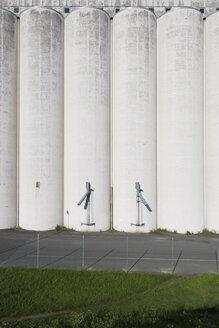 Sweden, Ahus, view to grain silos - VI000209