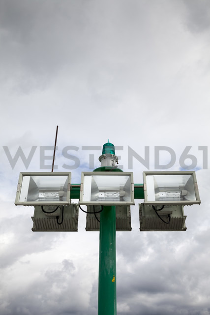 Germany, Fehmarn, Puttgarden, Headlights at harbour - WIF000236