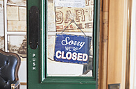 New Zealand, Coromandel Township, Door of popular and historic local pub, travel destination for overseas tourists and New Zealand people - GW002429