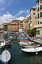 Italy, Liguria, Camogli, Boats in harbour - AMF001523