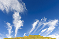 Spain, Aragon, Central Pyrenees, Ordesa y Monte Perdida National Park, Canon de Anisclo, cirrus clouds - LAF000367