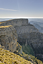 Spain, Aragon, Central Pyrenees, Ordesa y Monte Perdida National Park, Canon de Anisclo, View to Parque Natural de la Sierra y Canones de Guara - LAF000357