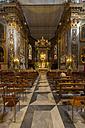 Italy, Liguria, Province of Genoa, Chiavari, Cattedrale di Nostra Signora dell'Orto, interior view - AM001533