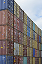 Stacked containers different colours - AX000604