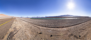 Chile, Atacama Desert, Lagoon at the Jama pass - STSF000246