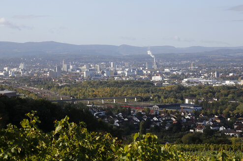 Border triangle Germany, Switzerland and France seen from Oetlingen, Baden-Wuerttemberg - DHL000208