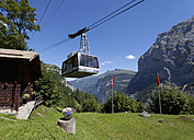 Switzerland, Jungfrau-Aletsch-Bietschhorn nature heritage site, Cable car from Grimmelwald to Murren - WW002953