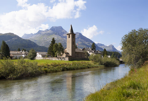 Switzerland, Upper Engadin, Sils on Inn river - WW002981