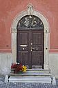 Switzerland, Samedan, Front door, close up - WWF002994