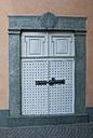 Switzerland, Poschiavo, Front door of town house, close up - WWF002999