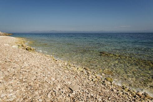 Croatia, Korcula, Prizba, rocky beach - KAF000089