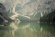 Italy, Trentino-Alto Adige, Alto Adige, Puster Valley, view of Lake Prags - MJ000451
