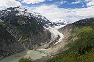 Border region Alaska-British Columbia, Tongue and lake of Salmon Glacier - FOF005445