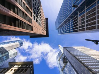 Germany, Hesse, Frankfurt am Main, Hessische Landesbank, Taunusturm, Japan Center and Commerzbank Tower - AMF001608