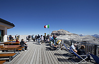 Italy, Trentino, Belluno, Mountain station at Sass Pordoi - WW003125