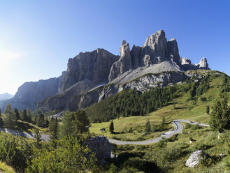 Italy, South Tyrol, Gardena Pass and Sella Group - WWF003075