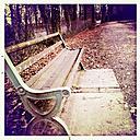 Germany, Baden-Wuerttemberg, Freiburg, bench at Waldsee - DHL000220