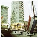 Sailingboat in the Sandtorhafen, Germany, Hamburg, Hafencity Hamburg - SEF000223