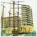 Sailingboat in the Sandtorhafen, Germany, Hamburg, Hafencity Hamburg - SE000224