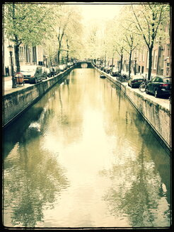 City, river, city tour, tree avenue, cars, Amsterdam, The Netherlands - FMKF001136