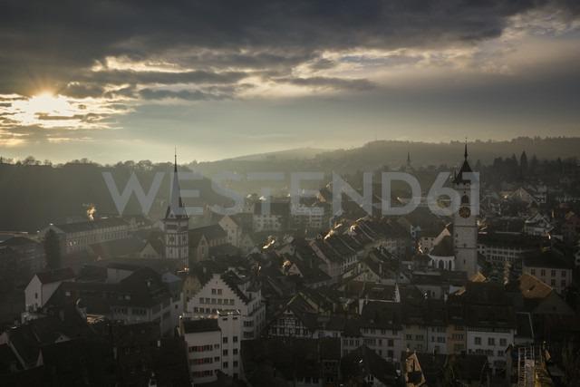 Switzerland, Canton of Schaffhausen, Schaffhausen, old town at evening mood - ELF000778