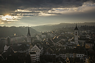 Switzerland, Canton of Schaffhausen, Schaffhausen, old town at evening mood - ELF000778