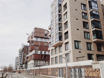 New Architecture Dalmannkai on Grasbrookhafen in Hamburg's HafenCity, Germany, Hamburg - SE000284