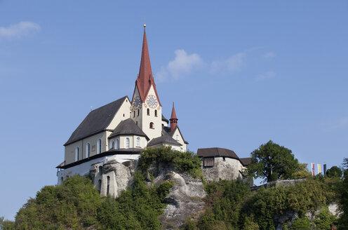 Austria,Vorarlberg, Rankweil, View of Fortified Liebfrauenbergkirche - WW003154