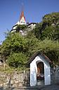 Austria,Vorarlberg, Rankweil, View of Fortified Liebfrauenbergkirche, wayside shrine, marterl - WW003157