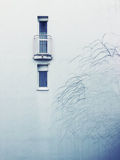 House wall in winter, Regensburg, Bavaria, Germany - GSF000576