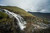 UK, Scotland, Glen Coe, waterfall at ski resort - PAF000220