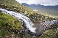 UK, Scotland, Glen Coe, waterfall at ski resort - PAF000224