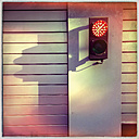 Red Light, garage entrance, Munich, Bavaria, Germany - GSF000606