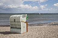 Germany, Schleswig-Holstein, Hohwacht, Hohwacht Bay, beach chair at beach - WI000288