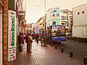 Bus stop in Cuenca, Ecuador, local, public transport - ON000364
