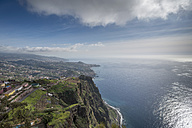 Portugal, Madeira, Cabo Girao, view to Funchal - HLF000355