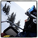 A girl in the chair lift to the Aberg, Saalfelden, Austria - DIS000298