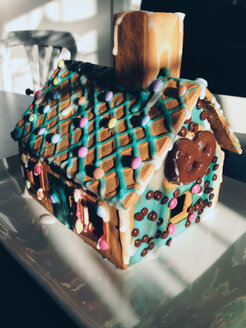 Gingerbread house in the sunlight - MEAF000011