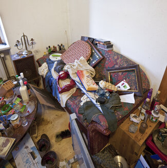 Austria, part of a living room of a person with hoarding disorder - DIS000329
