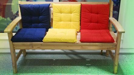Wooden bench, Bavaria, Germany - MAEF007603