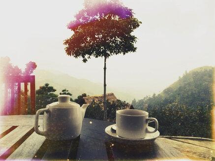 Tea sets, Ella, Sri Lanka - DRF000428