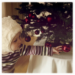 Toddler at Christmas - GSF000681
