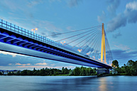 Germany, Rhineland-Palatinate, Neuwied, Raiffeisen bridge in the evening - PAF000261