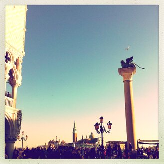 Piazzetta, Column, Markus Lion, landmark, Venice, Italy - GSF000698