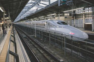 Japan, Osaka, Shin-Osaka Station, platform with bullet train - FL000369