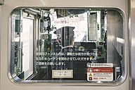 Japan, train driver in a local train - FL000353